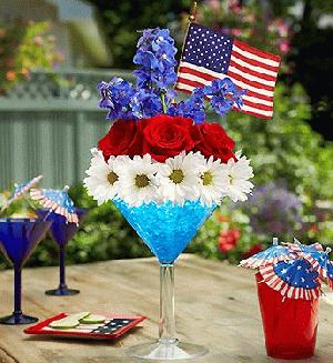 Cheers to The Red, White & Blue by Rich Mar Florist