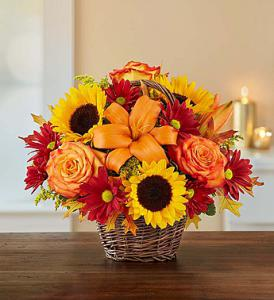 Fields of Europe for Fall Basket by Rich Mar Florist