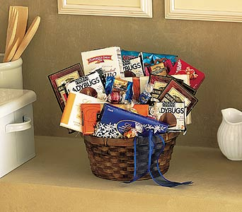 Chocolate & Snack Lover's Basket by Rich Mar Florist