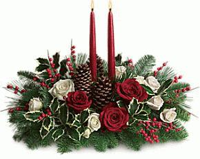 Christmas Wishes Centerpiece by Rich Mar Florist