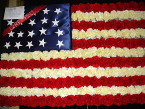 Country Flag Standing Spray (USA) by Rich Mar Florist