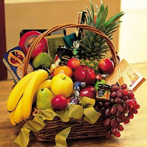 Gourmet Fruit Basket by Rich Mar Florist