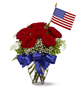 Star Spangled Roses by Rich Mar Florist