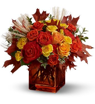 Fine Fall Roses by Rich Mar Florist