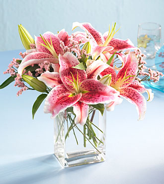 The Pink Lily Bouquet by Rich Mar Florist