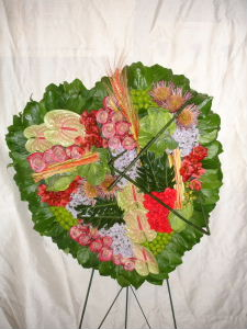 Tropical Paradise Standing Heart by Rich Mar Florist