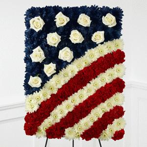 Glory Be Flag Tribute by Rich Mar Florist