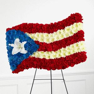 Standing Flag (Puerto Rico) by Rich Mar Florist