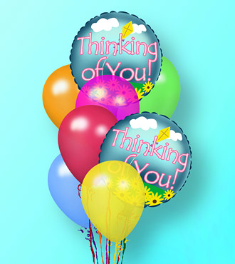 The Thinking of You Balloon Bunch by Rich Mar Florist
