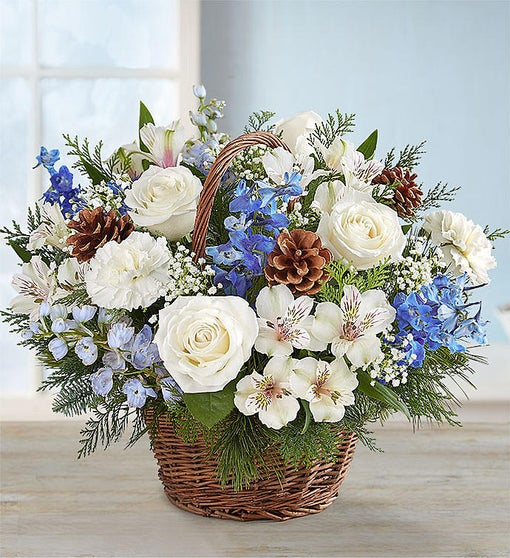 Winter Wishes Willow Basket by Rich Mar Florist